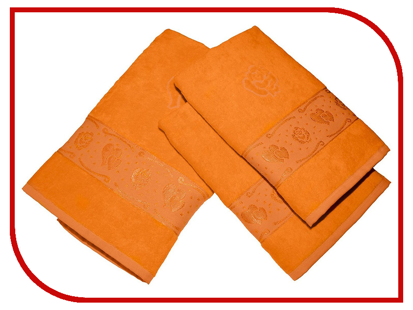 Полотенце Aisha Home 50x90/70x140 3шт Orange УНП-018-04-3 полотенце aisha home 50x90 70x140 3шт blue унп 018 05 3