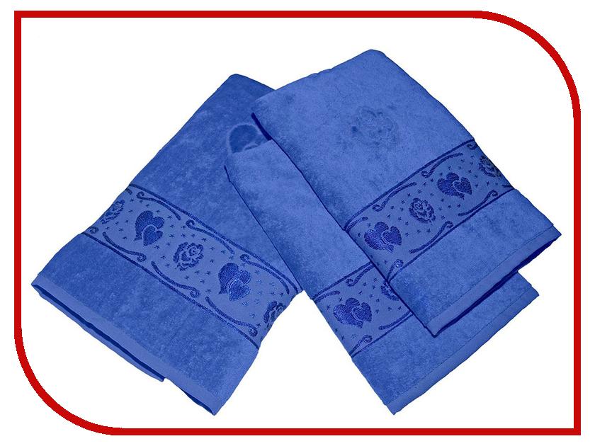 Полотенце Aisha Home 50x90/70x140 3шт Blue УНП-018-05-3 полотенце aisha home 50x90 70x140 3шт blue унп 018 05 3