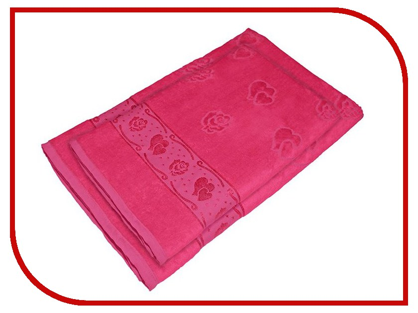 Полотенце Aisha Home 50x90/70x140 2шт Fuchsia УНП-018-02-2