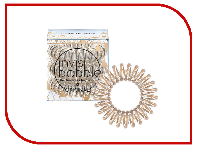 Резинка для волос Invisibobble Time To Shine Bronze Me Pretty 3 штуки