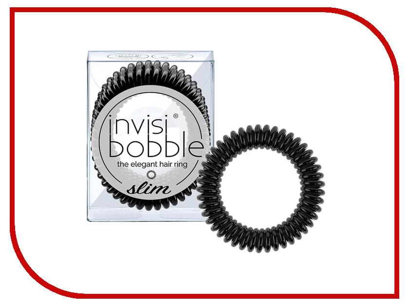 Резинка для волос Invisibobble Slim True Black 3 штуки резинки invisibobble резинка браслет для волос nano true black цвет true black variant hex name 2f2f2f