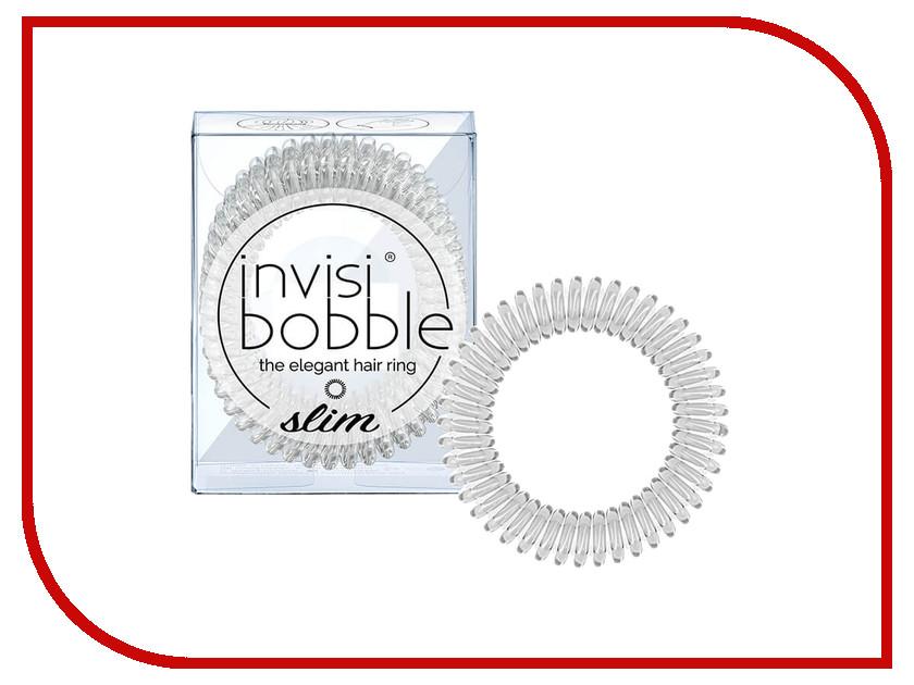 Резинка для волос Invisibobble Slim Crystal Clear 3 штуки invisibobble резинка для волос бежевого цвета original queen of the jungle 3 шт резинка для волос бежевого цвета original queen of the jungle 3 шт 3 шт уп