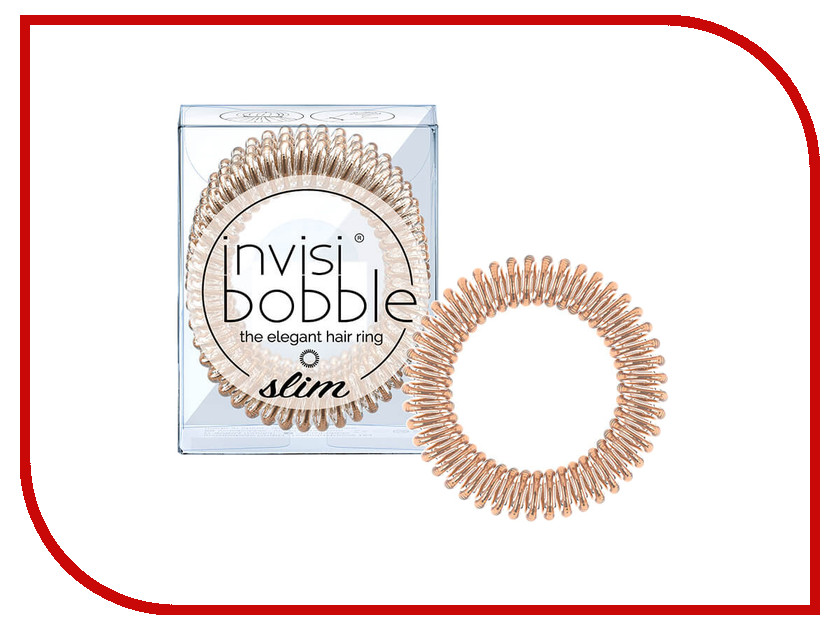 Резинки для волос Invisibobble Slim Bronze Me Pretty 3 штуки