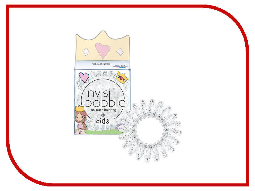 Резинка для волос Invisibobble Kids Princess Sparkle 3 штуки резинка для волос invisibobble original princess of the hearts 3 штуки