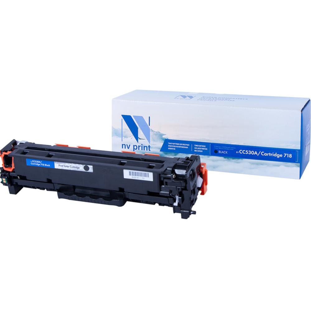 Картридж NV Print (схожий с HP CC530A/718) Black для HP LaserJet Color MFP-CM2320/CP2025/i-SENSYS LBP-7200C/MF8330C/8350C 3500k NV-CC530A-718Bk тонер картридж hp cc530a black для lj cp2025 cm2320 3 500 стр