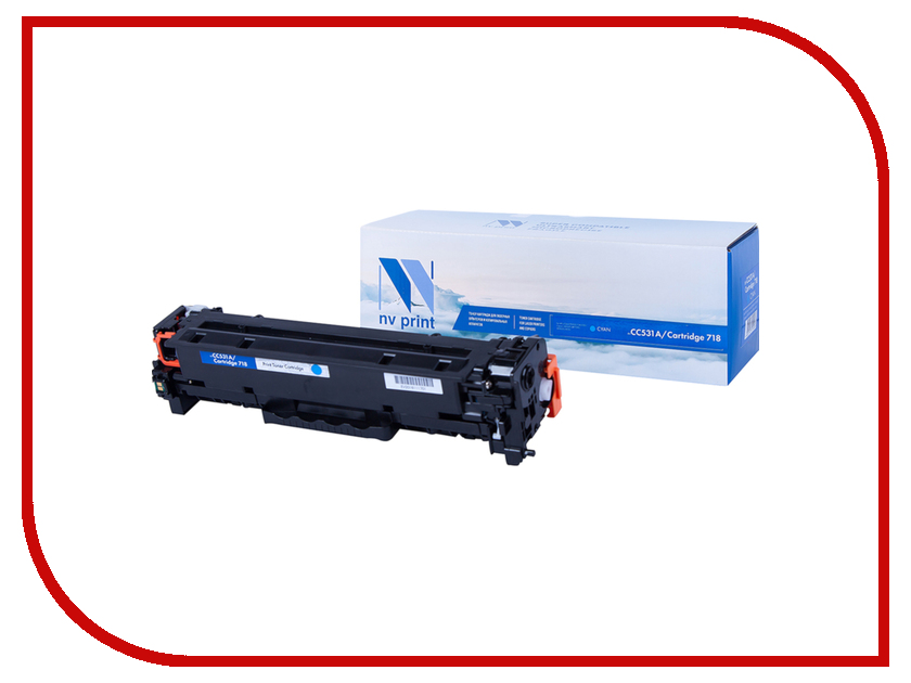 Картридж NV Print Cyan для HP LaserJet Color MFP-CM2320/CP2025/i-SENSYS LBP-7200C/MF8330C/8350C 2800k NV-CC531A-718C картридж nv print ce255a для hp lj p3015