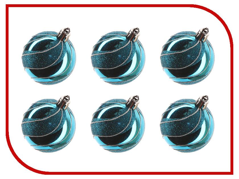 Украшение Irit Набор шаров 6шт ING-031A Blue набор шаров волны фиолетовый пластик 6шт 6см