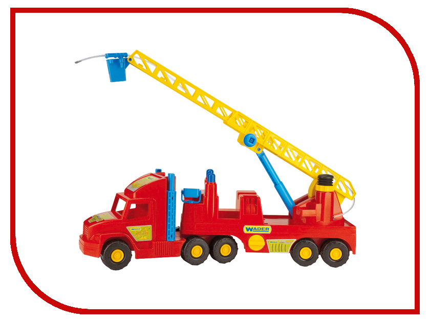 Машина Wader Super Truck Пожарная 36570 машина пламенный мотор volvo v70 пожарная охрана 870189