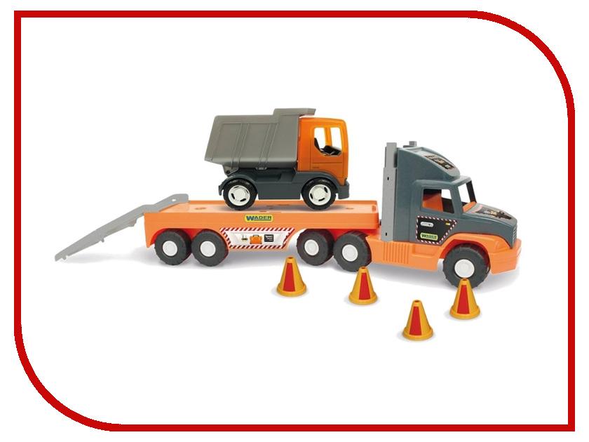 Машина Wader Super Tech Truck c грузовиком 36710 машина wader super tech truck с бульдозером 36720