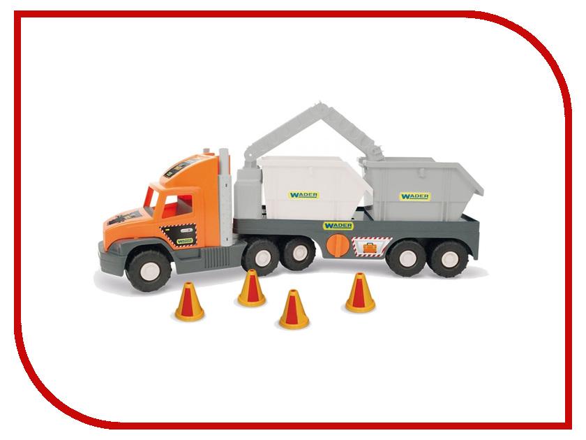 Машина Wader Super Tech Truck с строительными контейнерами 36760 универсальный набор инструмента super tech jonnesway s68h5234111s