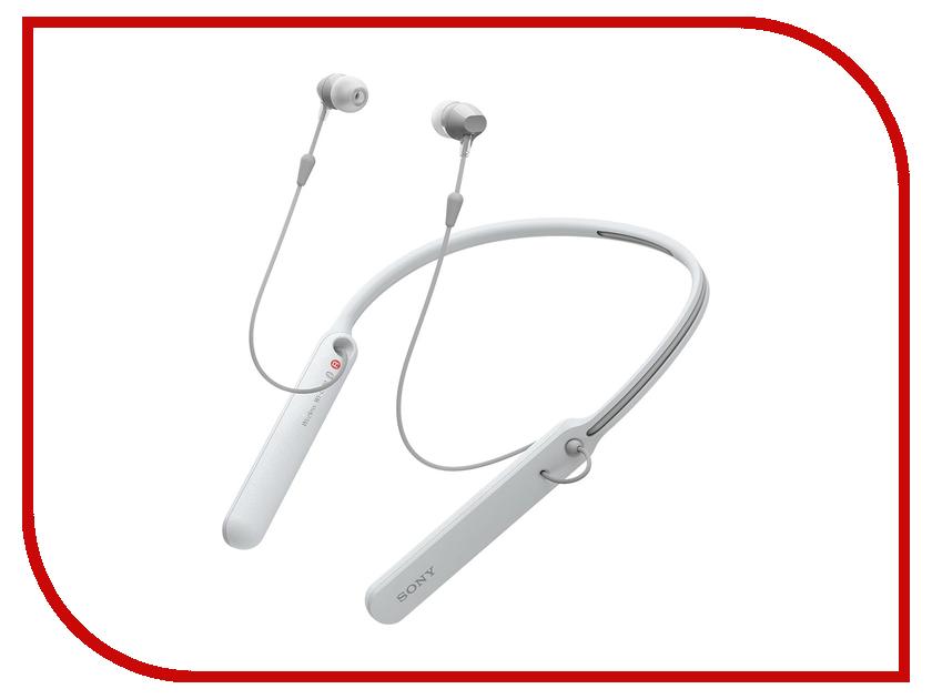 Sony WI-C400 White sony sony wi c400 белый беспроводной стерео гарнитура