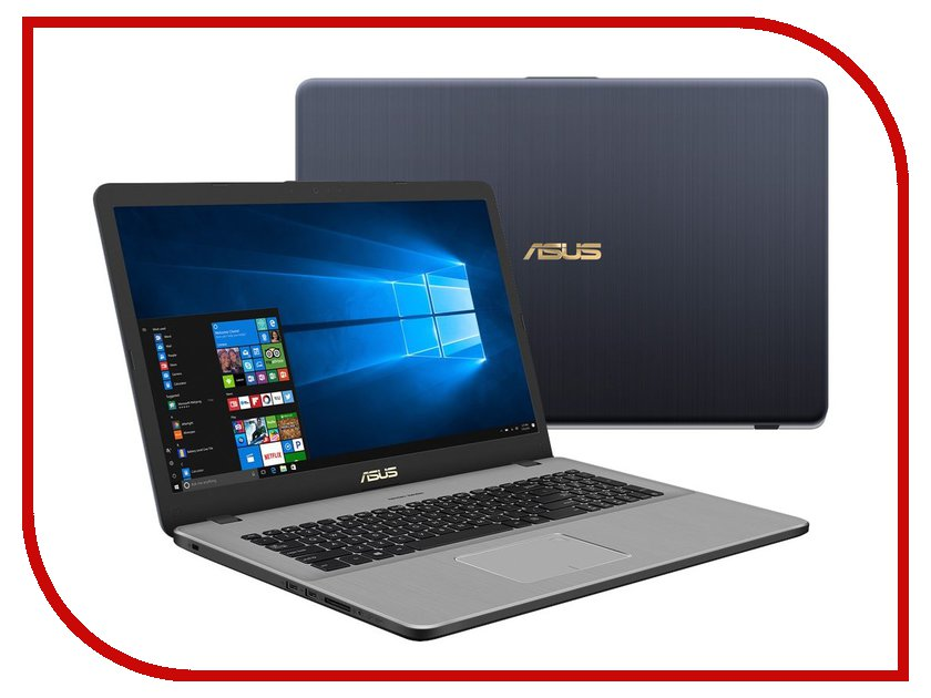 Zakazat.ru: Ноутбук ASUS VivoBook Pro 17 N705UD-GC173T 90NB0GA1-M02550 (Intel Core i7-8550U 1.8 GHz/16384Mb/1000Gb + 128Gb SSD/No ODD/nVidia GeForce GTX 1050 2048Mb/Wi-Fi/Bluetooth/Cam/17.3/1920x1080/Windows 10)