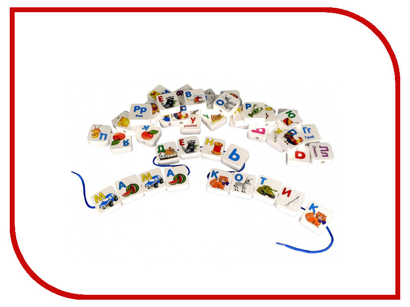 Игрушка Alatoys Шнуровка азбука КША3301