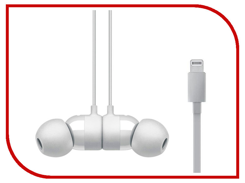 Гарнитура Beats urBeats3 Earphones Lightning Matte Silver MR2F2ZE/A beats mixr red