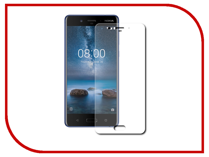 Аксессуар Защитное стекло Nokia 8 Zibelino TG 0.33mm 2.5D ZTG-NOK-8 аксессуар защитное стекло lenovo k10 vibe c2 k10a40 zibelino 0 33mm 2 5d ztg len k10 vib c2