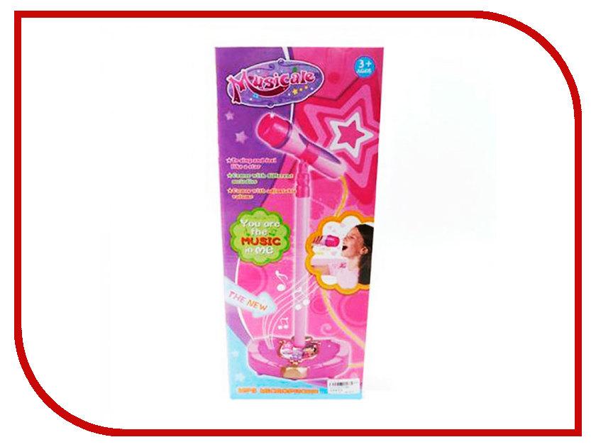 Детский музыкальный инструмент Shantou Gepai Микрофон на стойке Pink 200093964