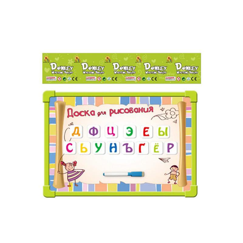 Доска для рисования Shantou Gepai / Наша игрушка с набором магнитных букв R6114-C2 доска для рисования shantou gepai котенок цветная 63467