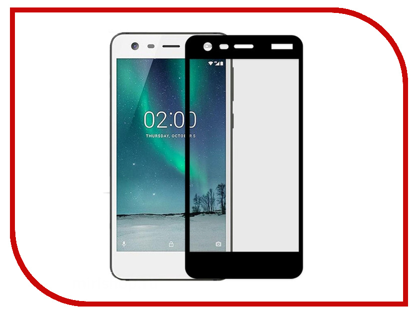 Аксессуар Защитное стекло Nokia 2 Zibelino TG Full Screen 0.33mm 2.5D Black ZTG-FS-NK-2-BLK аксессуар защитное стекло huawei nova lite 2017 zibelino tg full screen 0 33mm 2 5d white ztg fs hua nov lit wht