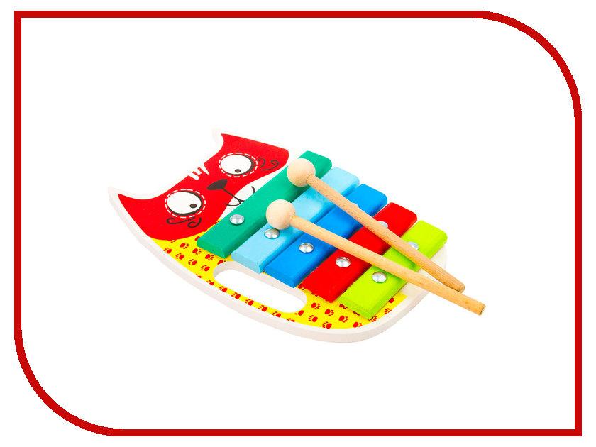 Детский музыкальный инструмент Alatoys Ксилофон Кот КС0501