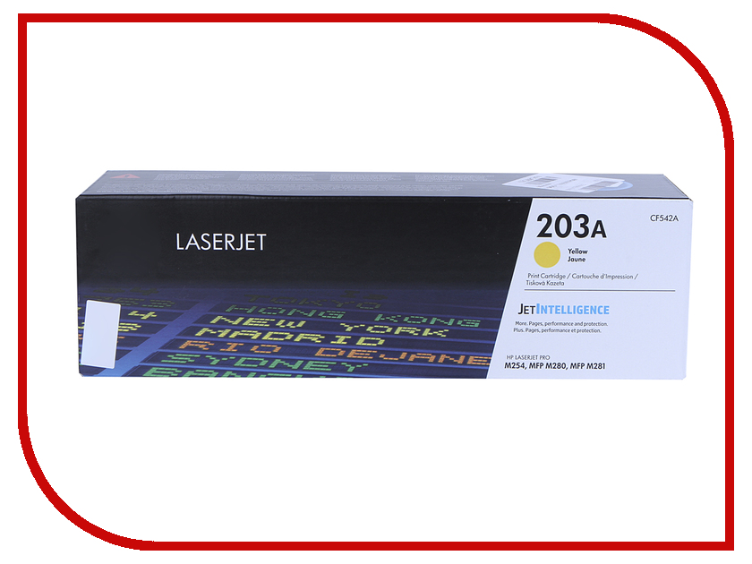 Картридж HP 203A CF542A Yellow для LaserJet Pro MFP M254/M280/M281 new paper delivery tray assembly output paper tray rm1 6903 000 for hp laserjet hp 1102 1106 p1102 p1102w p1102s printer