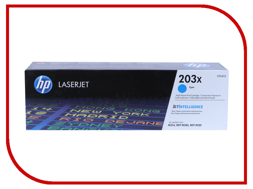 Картридж HP 203X CF541X Cyan для LaserJet Pro MFP M254/M280/M281 new paper delivery tray assembly output paper tray rm1 6903 000 for hp laserjet hp 1102 1106 p1102 p1102w p1102s printer