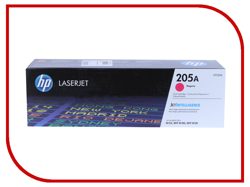 Картридж HP 205A CF533A Magenta для M180n/M181fw hewlett packard hp многофункциональная аппаратура для печати копии факса сканирования
