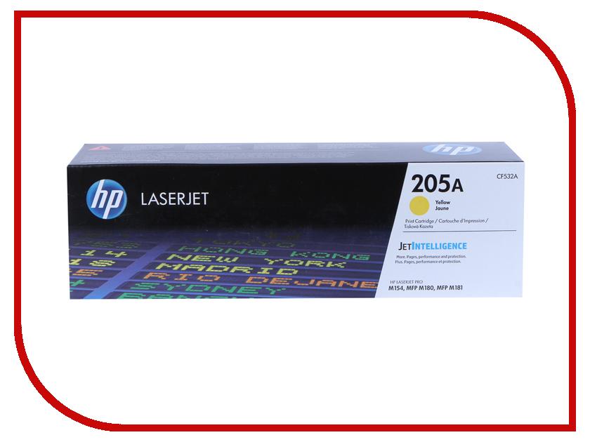 Картридж HP 205A CF532A Yellow для M180n/M181fw hewlett packard hp многофункциональная аппаратура для печати копии факса сканирования