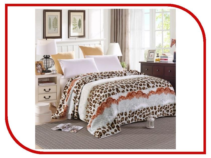 Плед Hongda Леопард 1.5x2m White 928122 плед hongda уют 1 8x2m white 877212