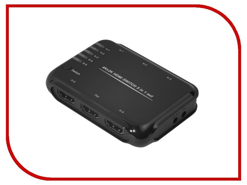 Аксессуар Greenconnect Greenline Переключатель GL-TC06 HDMI 5к1 GL-vTC06 аксессуар mystery mad gl шумоподавитель линейный