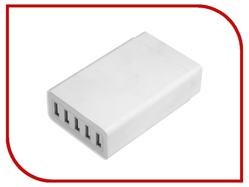 Зарядное устройство Greenconnect 5 USB-порта Grey GCR-5PAUSB greenconnect gcr um2m5p bd2s кабель miniusb usb 1 5 м