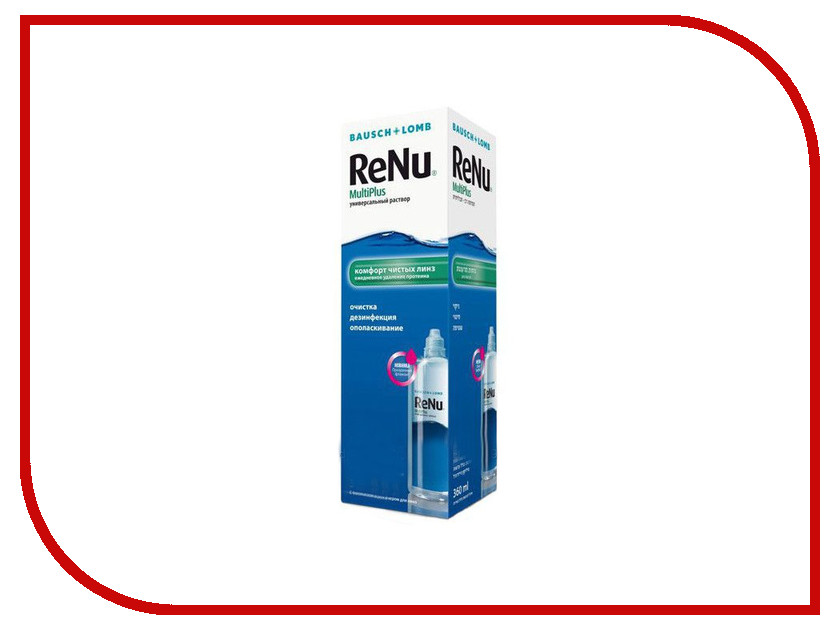 Раствор Bausch & Lomb Renu MultiPlus 240ml bausch lomb pure vision 2 6 r 8 6 d 3 5