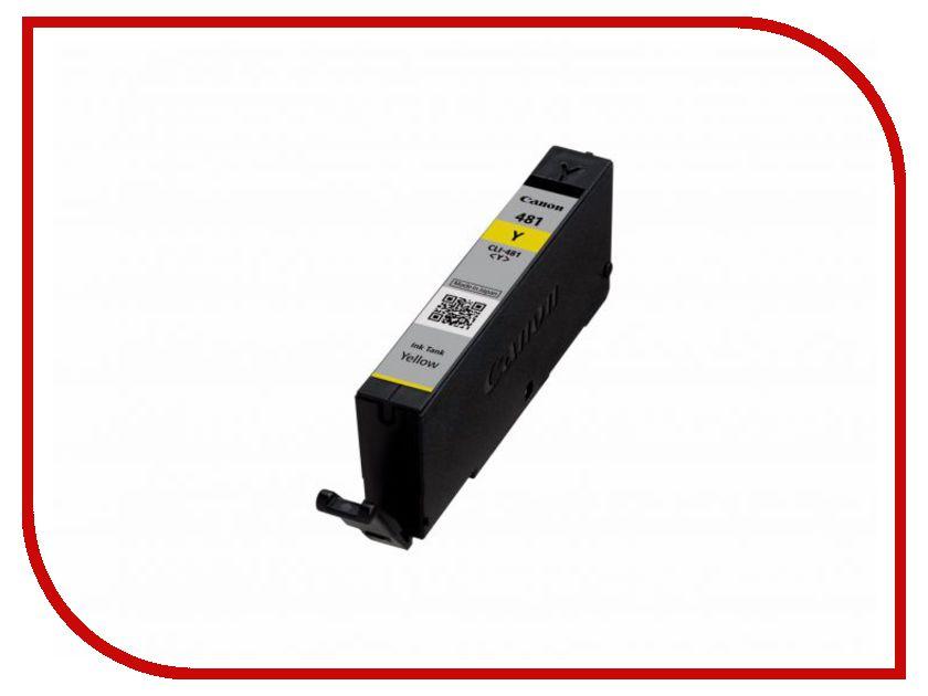 Картридж Canon CLI-481 Y 2100C001 Yellow для Pixma TS6140/TS8140TS/TS9140/TR7540/TR8540 картридж canon cli 481 bk 2101c001 black для pixma ts6140 ts8140ts ts9140 tr7540 tr8540