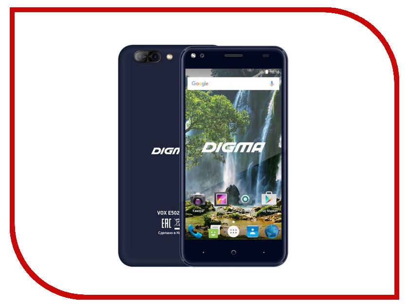 Сотовый телефон Digma VOX E502 4G Dark Blue мобильный телефон digma vox s506 4g белый