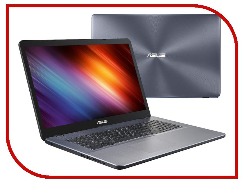 Ноутбук ASUS X705UQ-BX130 90NB0EY2-M01570 (Intel Core i3-7100U 2.4 GHz/4096Mb/500Gb/No ODD/nVidia GeForce 940M 2048Mb/Wi-Fi/Bluetooth/Cam/17.3/1600x900/Linux)