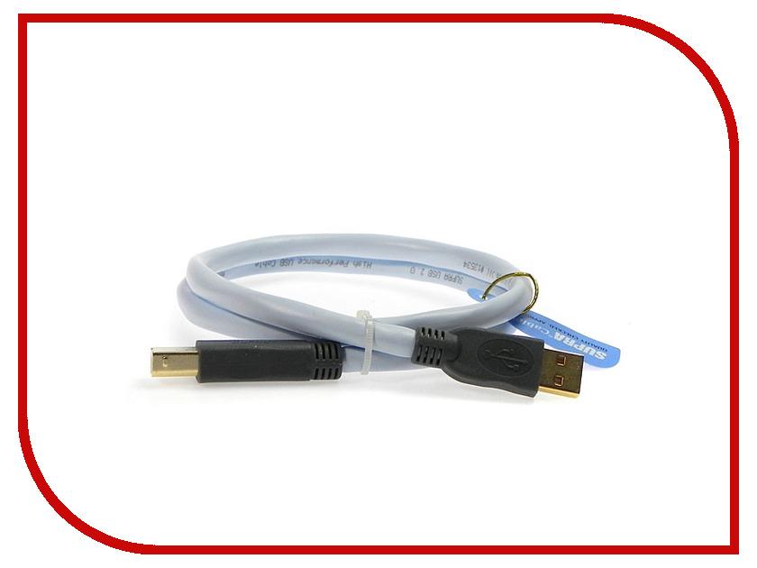 Аксессуар SUPRA USB 2.0 A-B 2m Blue