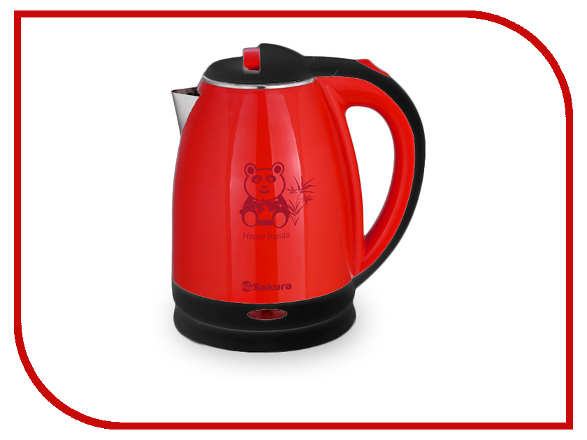 Чайник Sakura SA-2138 Black-Red часы sakura sa 8502r red