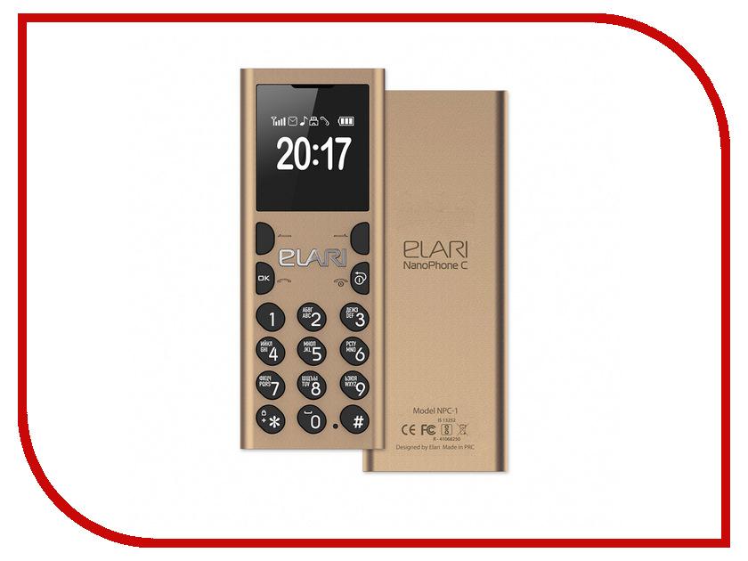 Сотовый телефон Elari NanoPhone C Gold аксессуар чехол elari для elari cardphone и iphone 6 plus blue