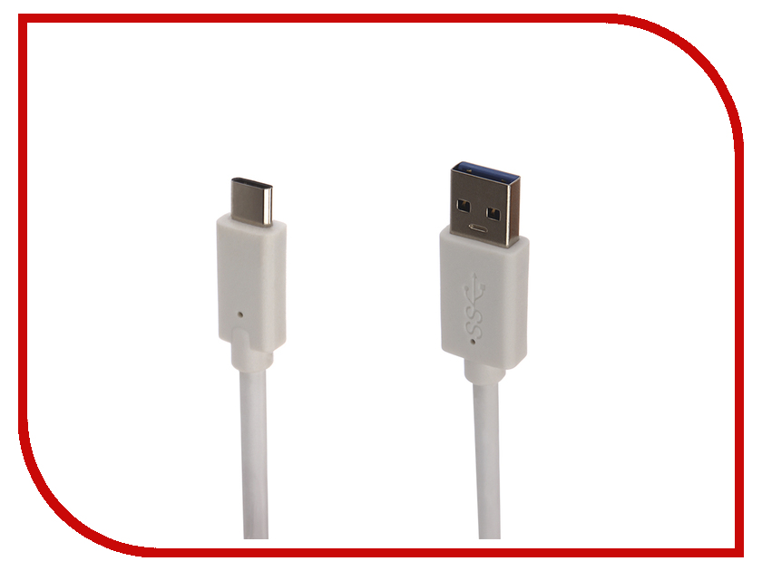 Аксессуар Gembird Cablexpert USB 3.0 AM - Type-C 1m White CCP-USB3-AMCM-1M-W аксессуар baseus tough series usb usb type c 1m white 906026