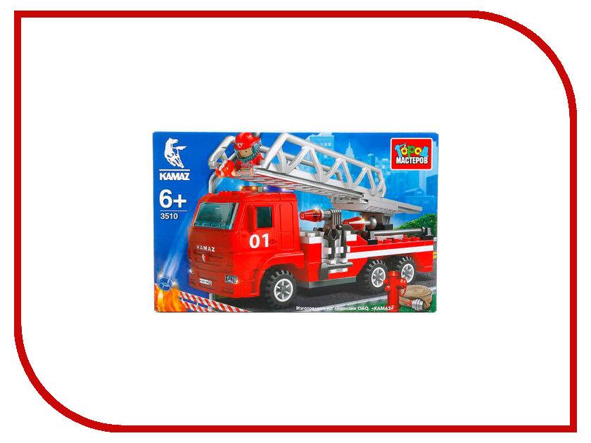 Конструктор Город Мастеров Пожарная машина KK-3510-R город мастеров конструктор автобус kk 1843 r