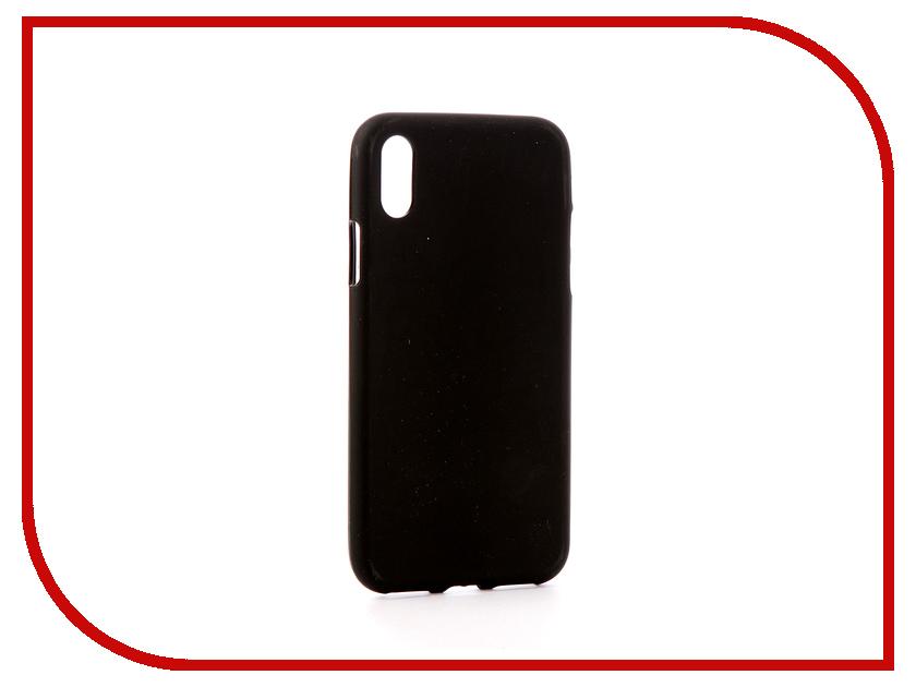 Аксессуар Чехол Svekla Silicone для APPLE iPhone X Black SV-APX-MBL аксессуар чехол asus zenfone 3 max zc553kl svekla silicone black sv aszc553kl mbl