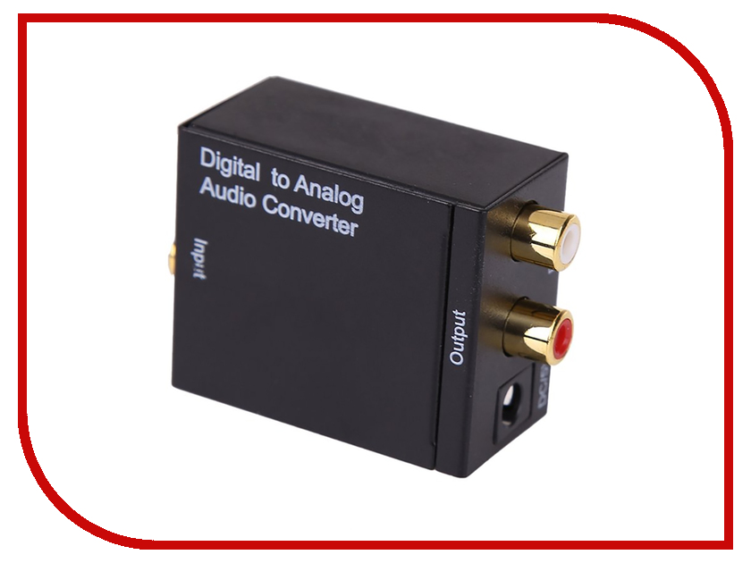 Цифровой конвертер Espada Toslink+RCA Coaxil to 2xRCA Analog EDH-TR/R 42585 ssriver 5 1ch hdmi audio extractor decode coaxial to rca ac3 dst to 5 1 amplifier analog converter support 4k for ps4 dvd player