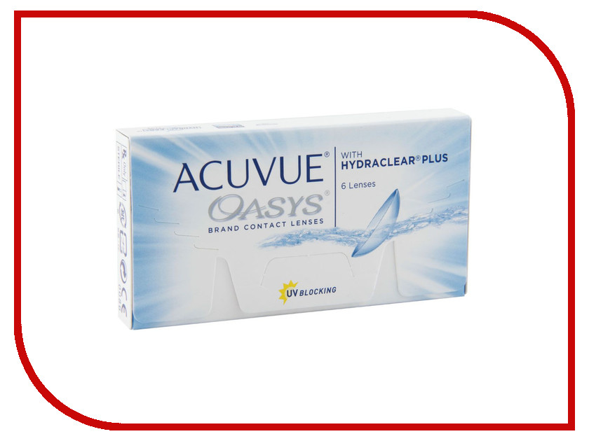 Контактные линзы Johnson & Acuvue Oasys with Hydraclear Plus (6 линз / 8.4 -2.5)