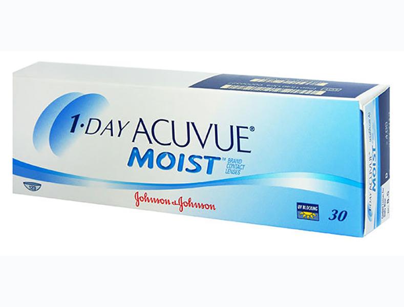 Контактные линзы Johnson & Johnson 1-Day Acuvue Moist (30 линз / 8.5 / -2.25) контактные линзы johnsonjohnson 1 day acuvue moist 30 шт r 8 5 d 11 5