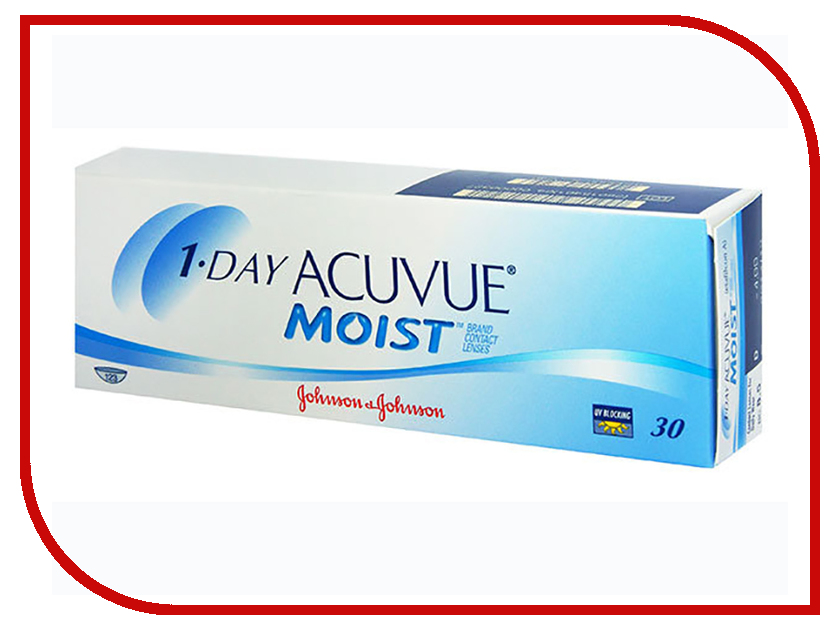 Контактные линзы Johnson & Johnson 1-Day Acuvue Moist (30 линз / 8.5 / -2.75) контактные линзы johnson & johnson 1 day acuvue moist 90 линз 8 5 4 25