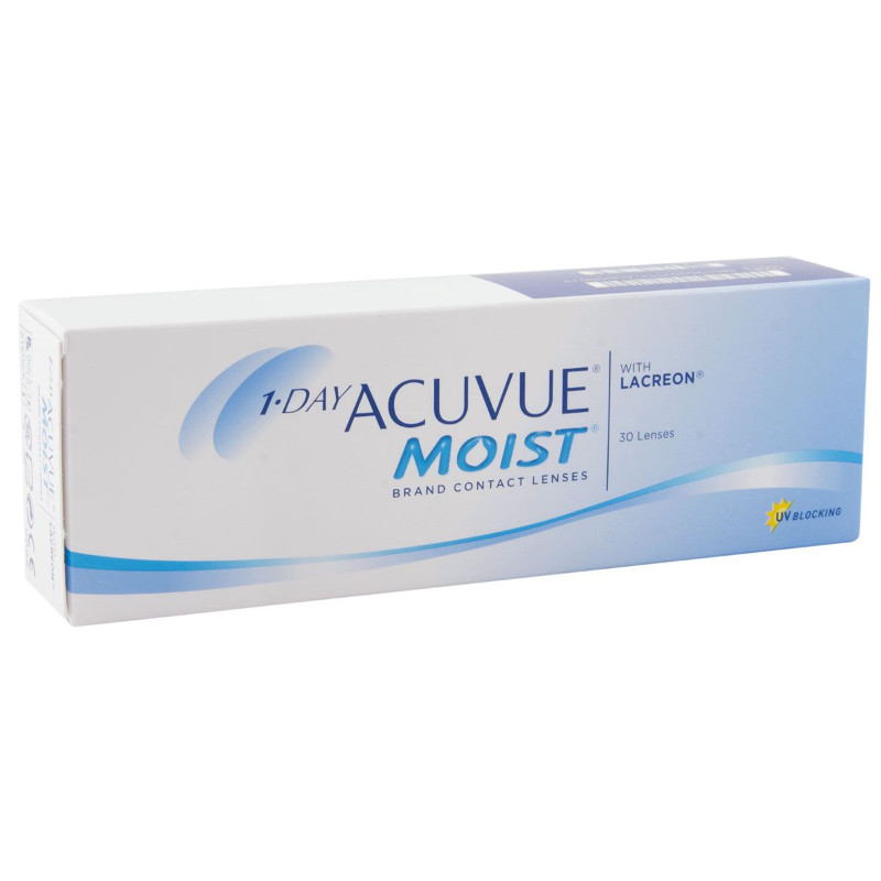 Контактные линзы Johnson & Johnson 1-Day Acuvue Moist (30 линз / 8.5 / -3.5)