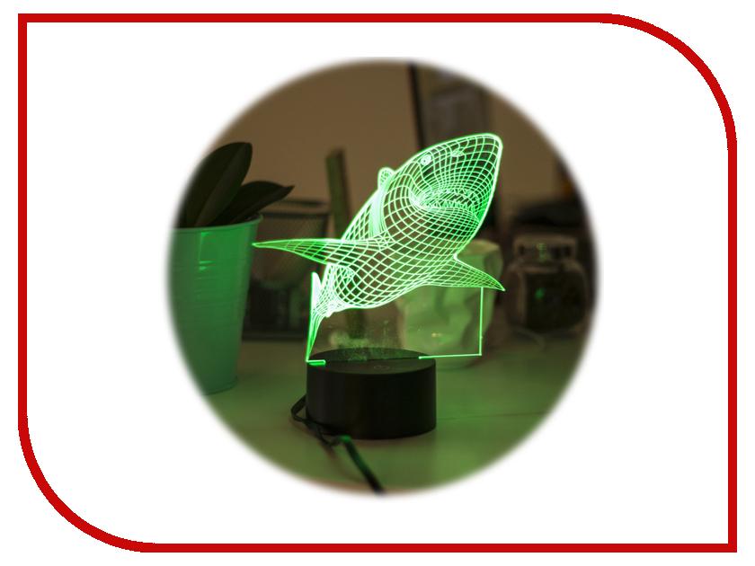 3D лампа Megamind Акула МЭ360 3d лампа 3d lamp акула