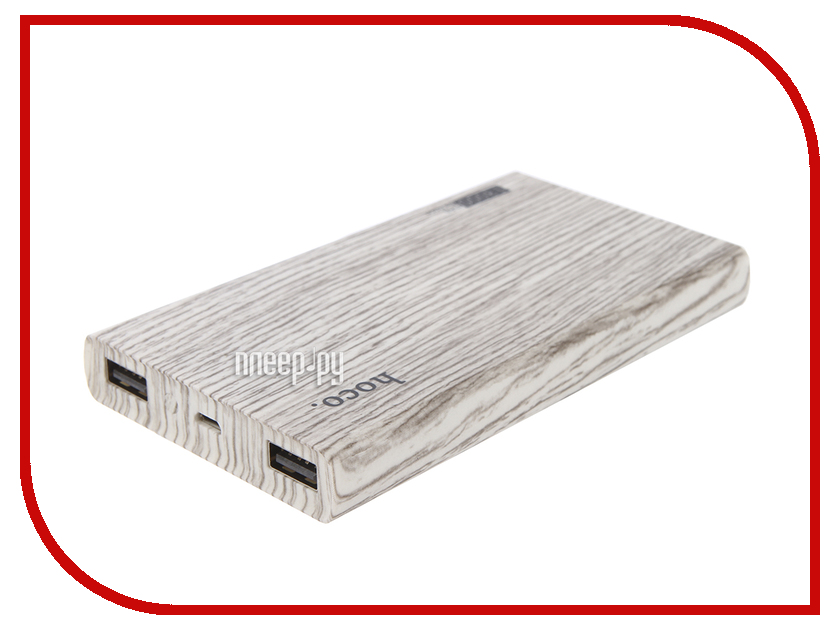 Аккумулятор HOCO B12B Wood grain 13000mAh Grey Oak аккумулятор hoco b12b wood grain 13000mah grey oak