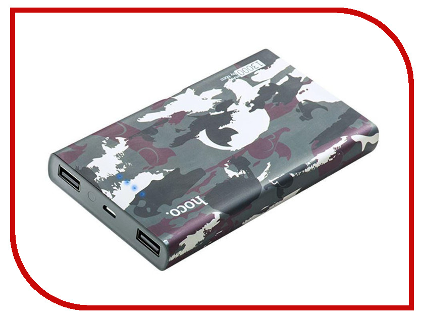 Аккумулятор HOCO B12C Camouflage 13000mAh Grey держатель hoco ca3 grey