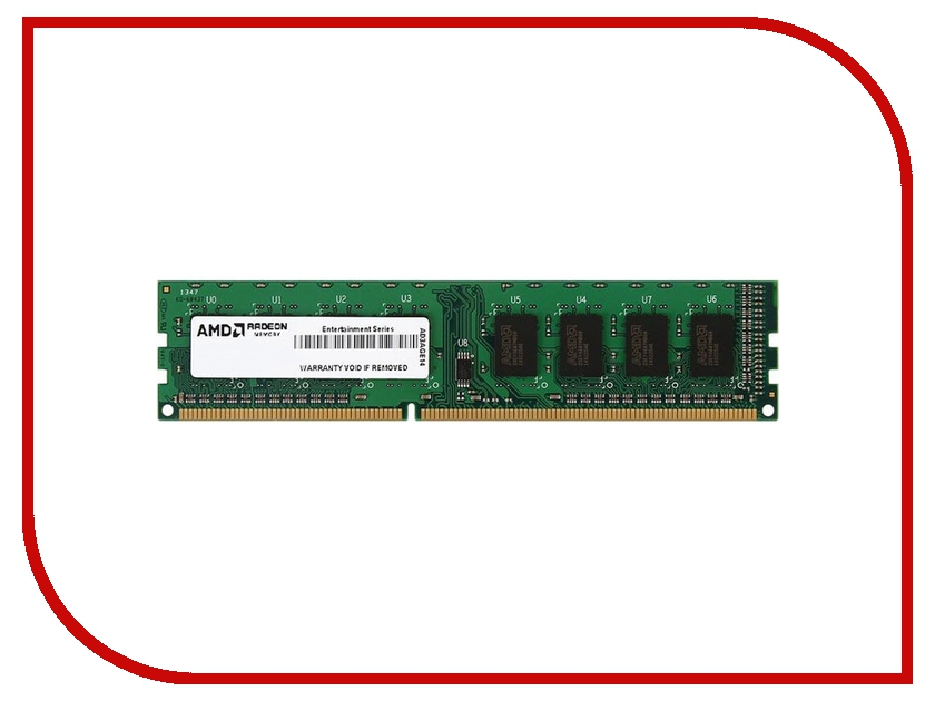 Модуль памяти AMD DDR3 DIMM 1600MHz PC3-12800 CL11 - 4Gb R534G1601U1S-UGO
