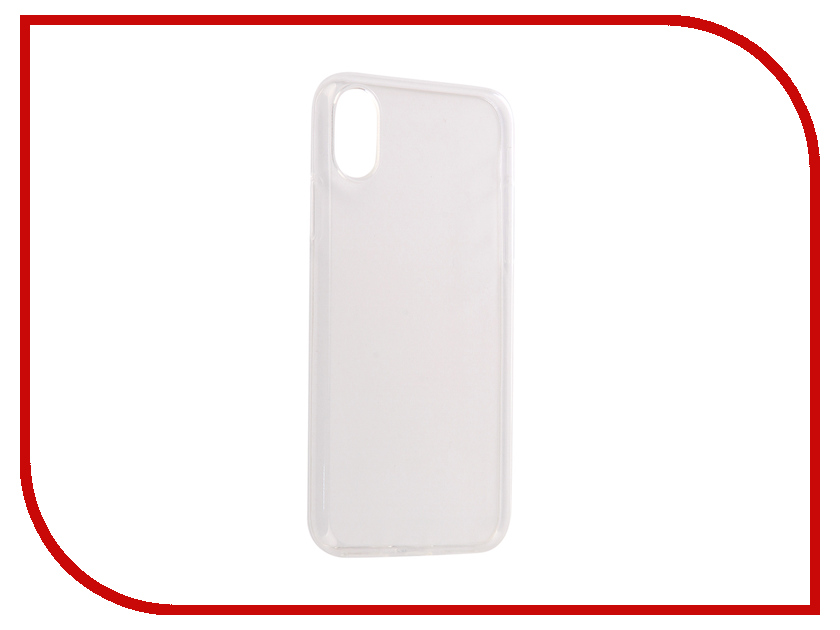 Аксессуар Чехол для APPLE iPhone X SkinBox Slim Silicone Transparent T-S-AIX-005 стоимость